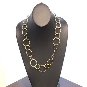 LAUNDRY By Shellie Segal Gold Loop Circle Necklace